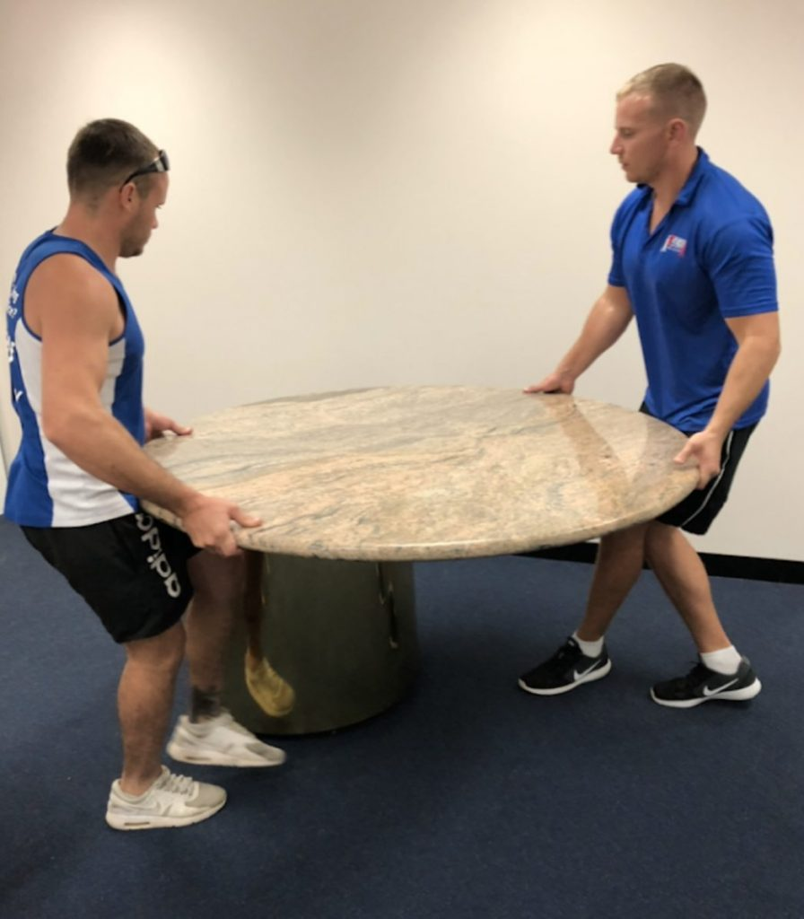 Perth removalists moving marble table